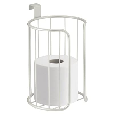 InterDesign Classico Toilet Paper Holder for Bathroom Storage, Over the Tank - Vertical, Chrome