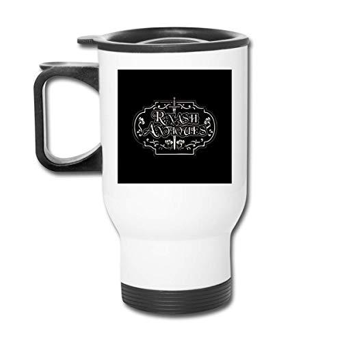 R Nash Antiques Highlander 16 Oz Tazza da caffè in acciaio inossidabile a doppia parete con coperchio a prova di schizzi per bevande calde e fredde