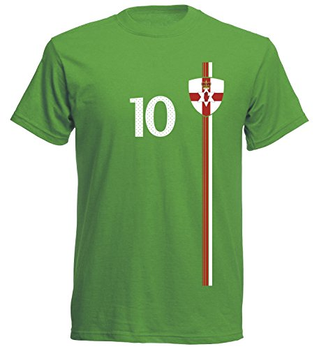 Nordirland Kinder T-Shirt Trikot St-1 EM 2016 - grün Northern Ireland Kids (128)
