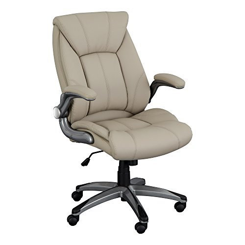 Norwood Commercial Furniture Executive Chair with Flip-Up Arms, Champagne, NOR-OUG104CP-SO