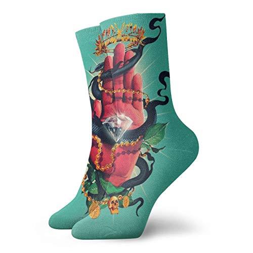 Pulsera Serpiente Unisex Deporte Corto Calcetines Transpirable Clásico Ocio Deporte Corto Calcetines Mujeres Hombres Para Correr Senderismo Camin