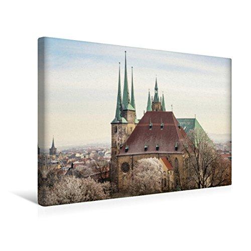 CALVENDO Premium Textil-Leinwand 45 x 30 cm Quer-Format Erfurt. Severi-Kirche & Dom St. Marien, Leinwanddruck von Thomas Seethaler