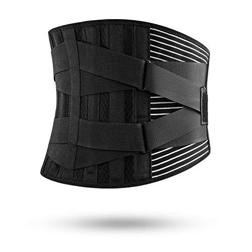 FREETOO Cinturón de Apoyo Lumbar, Cinturón de Presión Ajustable de Doble Capa, Ligero y Transpirable Faja de Espalda para la Protección en el Trabajo, Dolor de Espalda (Actualizar XXL)