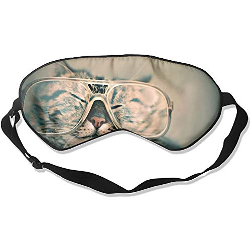 Slaap-oogmasker, schattig kattenglas, zachte oogbinding, verstelbare hoofdband, oogschaduw, reiseyepatch