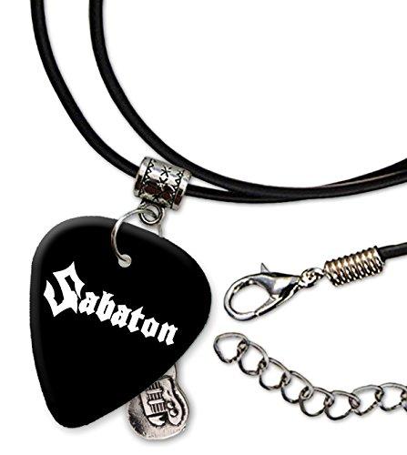 Sabaton Band Logo Gitarre Plektrum Schnur Halskette Necklace (H)