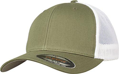 Flexfit Mesh Trucker Cap 2-Tone - Unisex Baseballcap für Damen und Herren, Farbe Buck/White, L/XL