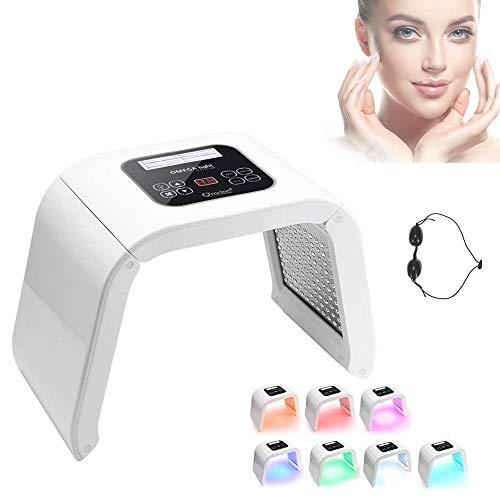 7 Colores LED Lampara Aparato Cabina PDT Fototerapia Beauty Machine, Terapia De Luz Fotorejuvenecimiento Máquina De Eliminación Del Acné Rostro Rejuvenecimiento(01)