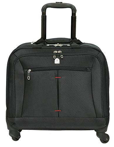 Tassia Business Laptop Roller Case - Large Stowage Area - 4 Wheel Spinner