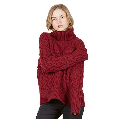 Dames pullover Coltrui trui van Mix kasjmier en merino wol kleur bordeaux