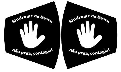MEIA MÁSCARA SÍNDROME DE DOWN NÃO PEGA CONTAGIA (INFANTIL)