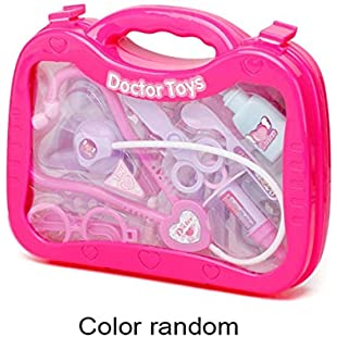Pretend Play Doctor Playset Nurses Toy Medical Set Kit With Hard Carry Case Early Education Toys For Kids Children