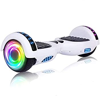 SISIGAD Hoverboard with Bluetooth and Colorful Lights Self Balancing Scooter