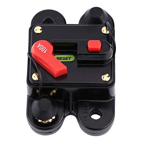 Disyuntor, DC12V Disyuntor para coche, barco, barco, bicicleta, audio estéreo, reinicio, fusible 80-300A, 1pc,(100A)