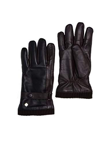 Imperial Studios Marco Mens Beautifully Pleats Warm Winter Touch Screen Gloves for Driving, Cycling, Outdoor Workwear, Travel, Riding, Motorcycle, Snow/Cold Weather, Fleece Lined (S/M, Choc/Black)