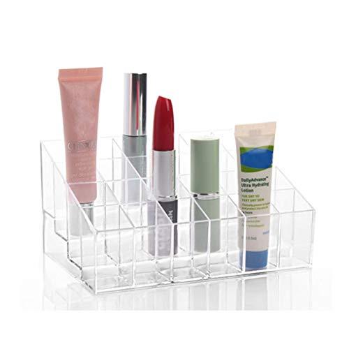 Yongse 24 Lippenstift Houder Display Stand Clear Acryl Make-up Organizer Zondroge, transparante bewaardozen