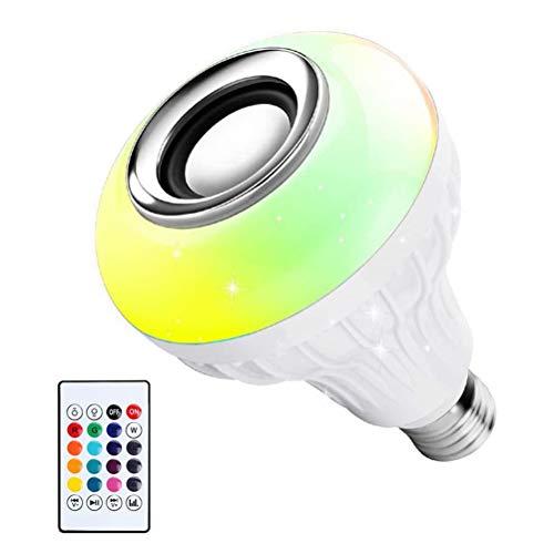 SHARRA Bluetooth-Lampe, 12 W LED RGB Lampe Dimmbar mehrfarbige Leuchtmittel mit Fernbedienung Musik Farbwechsel Glühbirne für Haus Dekoration, Bar, Party, KTV Bühne