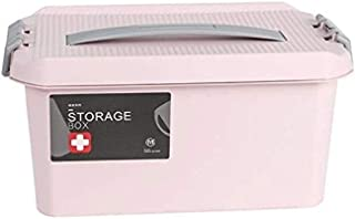 AINIYF Household Medicine Box Medicine Storage Box Portable First Aid Kit Multi-Layer Medical Box (Color : Pink, Size : 29x17x14.5cm)