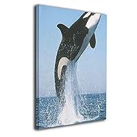 アートフレーム アートパネル クジラ 鯨 海 現代壁の絵 壁掛け式の装飾画 壁アート 木製 インテリアアート 額縁なし ポスター 部屋飾り ウォールアート モダン 30x20cm