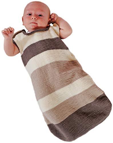 BellaLotta Strickset Merino - Babyschlafsack Träumschön, onesize ca. 60cm für 0-6 Monate