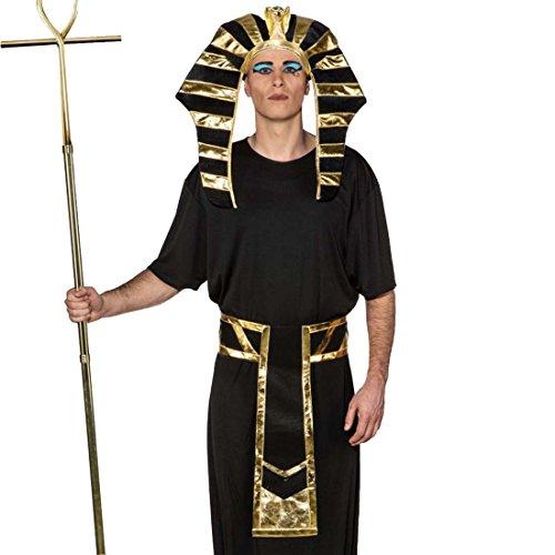 NET TOYS Set Disfraz faraón Accesorios Rey Egipcio Sombrero y cinturón Complementos Traje Egipto Vestimenta Carnaval Edad Antigua Accesorios carnavaleros tutancamón Fiesta temática antigüedad