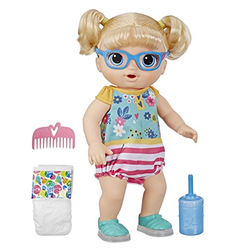 Boneca Baby Alive Bebê Passos E Sorrisos Loira - E5247 - Hasbro Baby Alive Boneca Baby Alive Bebê Passos E Sorrisos Loira Amarelo/rosa E Azul.