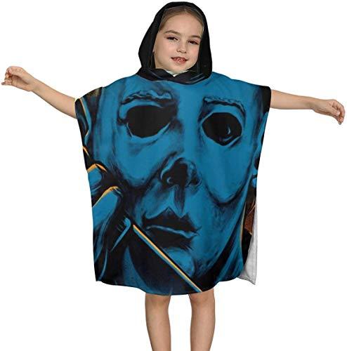 Halloween Mich-ael Myers 1978 Premium Kapuzen-Strandtuch für Kinder Jungen Mädchen 2 bis 7 Jahre alt, schnell trocknende Bad- / Billardtücher Super Absorbent Hooded Poncho , 23,7 x 23,7 Zoll
