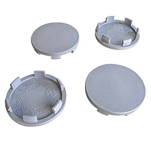 4x Nabenkappen 60 mm / 56 mm Nabendeckel Universal Kappen 60,0/56,0 mm Universel Felgendeckel