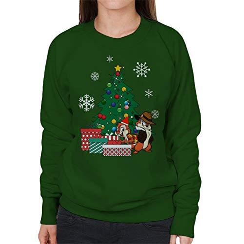 Cloud City 7 Chip N Dale Around The Christmas Tree Women's Sweatshirt