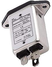 Odoukey Filtro emi RFI Filtro de la línea eléctrica del acondicionador de supresor del Ruido de CW1D-10A 10A-T para Equipos electrónicos