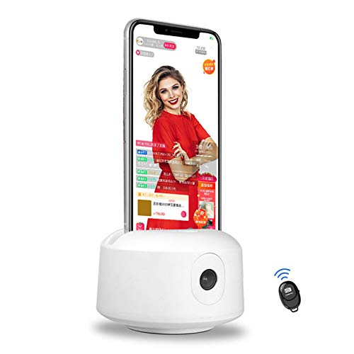 Face Auto Tracking Phone Holder with Bluetooth Remote, 360 Rotation Camera Mount Tracking Smart Shooting Selfie Stick Tripod for iPhone Smartphone Facebook YouTube TikTok Live Stream Vlogging