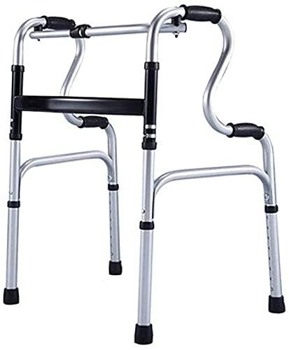 Rollator Walker, 4 ruedas Médico Rolling Walker Rehabilitación Rehabilitación Plegable Walker Vertical Bariátrico Médico Mano de ancianos Caña de rehabilitación Pasada Marco Marco de aleación de alumi
