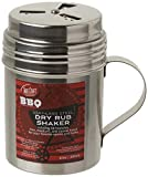 Tablecraft, 10 oz, Silver Stainless Steel Dry Rub Shaker with Handle, 10-Ounce