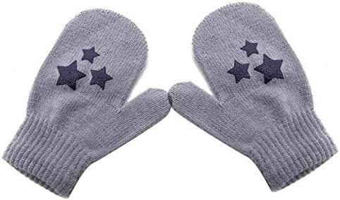 Kids Dot Star Heart Pattern Mittens Boys Girls Soft Knitting Warm Gloves - (Color: 5, Gloves Size: One Size)