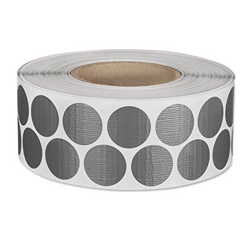 mashpaper Gewebeklebepunkte 30 mm rund 4000 Stück Klebepunkte aus Gewebeband silber grau R135K02C-30