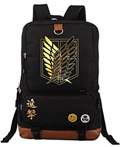 Gumstyle Anime Attack on Titan Large Capacity School Bag Cosplay Backpack Black
