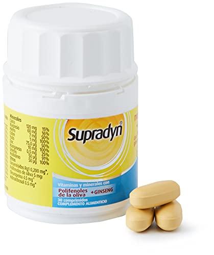 Supradyn Memoria 50+ Multivitaminas para la Memoria con Vitaminas, Minerales, Antioxidantes y Ginseng, una Ayuda para la Memoria y contra el Daño Oxidativo, 30 Comprimidos