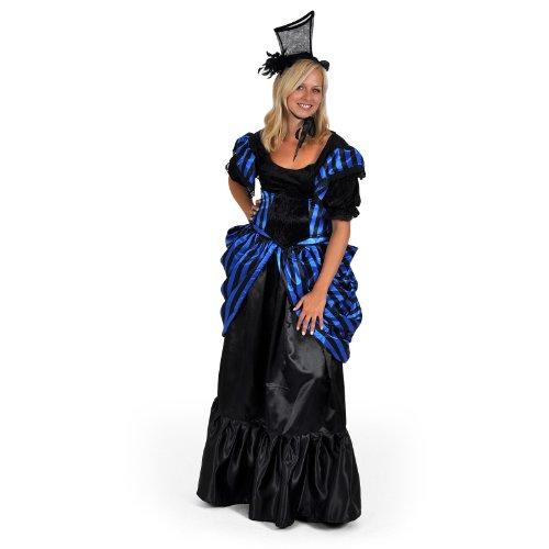 Madame Lilly historisches Kostüm Kleid Damen 4tlg Pariser Chic Rock Bluse Gürtel Haarschmuck für Karneval - L