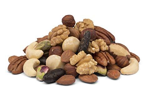 Mélange de noix bio de 9 types de noix avec des fèves de cacao – 650g – non torréfié et non salé – crues