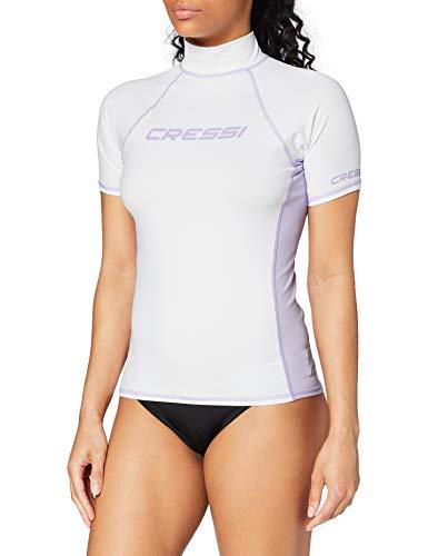 Cressi Rash Guard Camiseta con Filtro de Protección UV UPF 50+, Mujer, Blanco, XS
