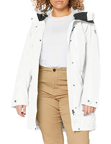 Schöffel Damen Parka Malmö1 wasserdichte Regenjacke für Frauen mit praktischen Taschen, modische und leichte Jacke für Frühling und Sommer, Blau (blue flower), 44