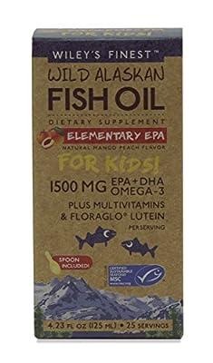 Wileys Finest Wild Alaskan Fish Oil ELEMENTARY EPA For Kids 125ML from Wileys