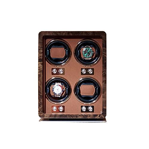 LRBBH Cajas Giratorias para Relojes Reloj Almacenamiento Colección Caja Exhibición Almacenamiento con Motor Silencioso For 4 Relojes De Pulsera Fácil Acceso