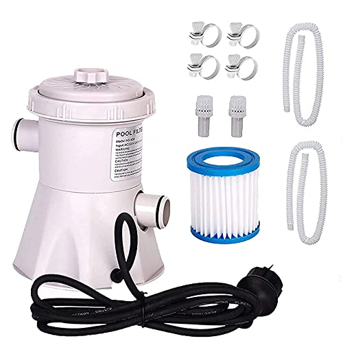 Swimming Pool Filter Pump,Cartridge Pool Filters Pump for Above Ground Pools,300 Gallons Swimming Pool Filter Pump,Electric Water Pump for Pools,Household Inflatable Pool Filter Pump Kit 1set