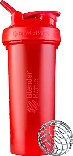 BlenderBottle Classic V2 Shaker Bottle Perfect for Protein Shakes and Pre Workout, 28-Ounce, Red Georgia