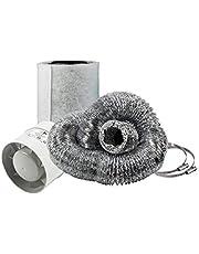 Cultivalley Mini airconditioning set - 105m³ buisventilator & 160m³ actieve koolfilter 100mm Ø - afvoerset voor kleine ruimtes bijv. Growtent Homebox Darkroom Hydroshoot Grow-Room