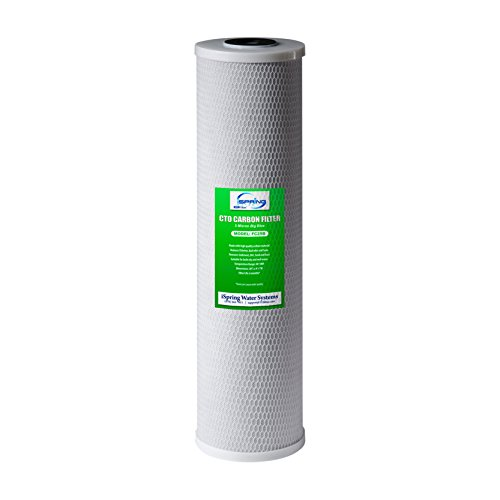 """iSpring FC25B High Capacity 20"""" x 4.5"""" Water Filter Replacement Cartridge Whole House Big Blue CTO Carbon Block, 4.5' x 20', Grey"""