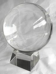 Clear Crystal Ball 60mm with Crystal Stand