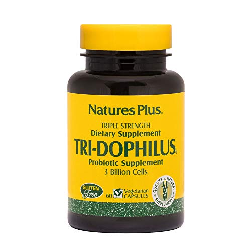 Nature´s Plus Tri-Dophilus - Suplementos probióticos, 60 Cápsulas