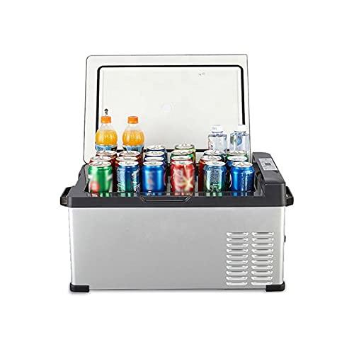 Bewinch Refrigerador De Coche De 30 litros Mini Nevera 12 / 24V Refrigerador De Coche Refrigerador De Camping Portátil Congelador Nevera para Autocaravana, Viaje En Barco, Picnic, -20 ℃ A 20 ℃