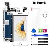BuTure Pantalla Para iPhone 6S Blanco 4.7', Pantalla Táctil LCD con Cámara Frontal,Sensor de...